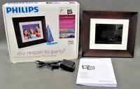 "Philips SPF3407D/G7 Digital Photo Frame 7"" 128MB Memory   EXCELLENT - TESTED"