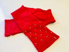 S OLIVER- schöner Schal Strickschal Mädchen in rot  -   814dm