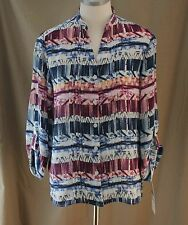 Alfred Dunner, Size 8, Sierra Madre, Multi Button Front Top, New with Tags