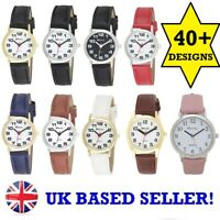NEW Ravel Ladies Women's Quartz Watch Easy to Read Big Numbers Black Gold Silver