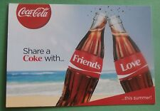 Share a Coke With Friends / Love This Summer New Coca-Cola Postcard from Belgium
