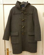 Gloverall London Vintage 1970's  English Duffle Coat Wool Grey Small Chest 36 (w