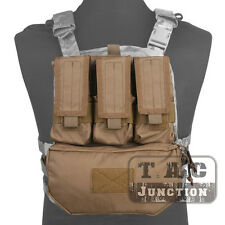 Emerson Tactical MOLLE Assault Pack Panel Plate Carrier Back Bag w/ Mag Pouch