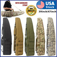 "39"" 47"" Long 600D Soft Padded Tactical Gun Case Bag Assault Rifle Pistol Storage"
