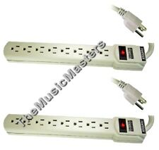2X Surge Protection 8 Outlet POWER STRIPS w/Reset Circuit Breaker Lighted Switch