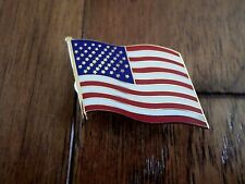 U.S.A American Wavy Flag Hat Pin Lapel Pin Double Post Pin