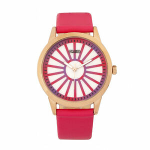 Crayo CRACR5004 Electric Leatherette Strap Watch - Hot Pink