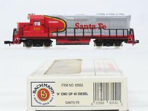 N Scale Bachmann 63552 ATSF Santa Fe GP40 Diesel Locomotive #890