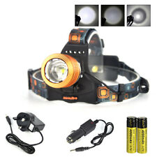 BORUiT 13000LM XM-L T6 LED Headlamp Zoomable Flashlight Torch 18650 Charger Kit