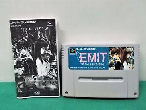 SNES -- EMIT Vol.3 -- Japan game. Works fully. 15008
