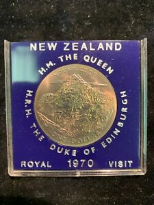 Original 1970 New Zealand Duke of Edinburgh Royal Visit Dollar