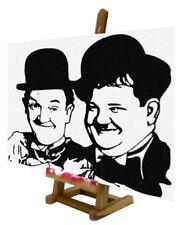 Quadro pop art Laurel and Hardy - Stanlio e Ollio locale pub studio disco b&b