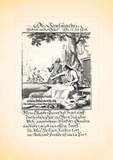 Der Segelmacher Segel Persenning Planen Kupferstich Christoph Weigel Berufe 162