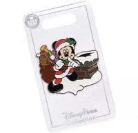 Disney Parks 2020 Mickey Santa Christmas Holiday Glitter Chimney Trading Pin NEW