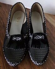 Larks, black and white mesh shoes, heels, Women's size 8-?
