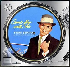 "Come Fly With Me Sinatra Slipmat Turntable 12"" Record Player, DJ Audiophile"