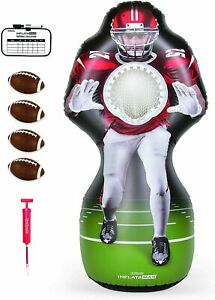 🧡 Inflataman Football Challenge - Inflatable Receiver Touchdown Toss Game, Red