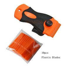 Mini Scraper + 10 pcs Plastic Razor Safety Scratch-Free Car Glue Paint Removal