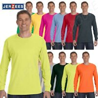 NEW Jerzees Heavyweight Blend 50/50 Mens Long Sleeve S-3XL T Shirt M-29L