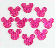 Lot 10 pcs Resin Minnie Mouse Hot Pink Flatback Scrapbooking Hair Bow Crafts BIN