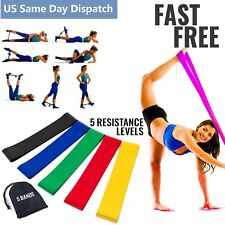 Exercise Bands Resistance Set Fitness Workout Stretch Elastic Loop Legs  Therapy faed816ee