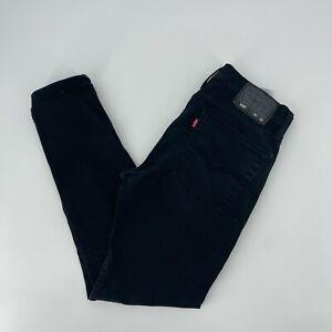 Levi Strauss 510 Jeans Mens Size 30x30 Black Skinny Fit Stretch Denim Red Tab