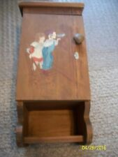 vtg hand Made&Hand Painted Wood Wall Phone Box w Chalkboard for numbers 22.5x10