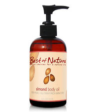 Best of Nature 100% Pure Almond Body Oil - 8 Ounce Pump Bottle