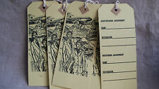 Vintage luggage tags mi siècle papier ephemera 8 pcs travel in style