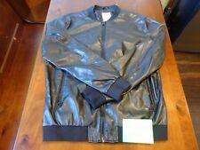 Zara Man Slim Fit Faux Leather BLACK Bomber Jacket Men's Size XL Full Zip