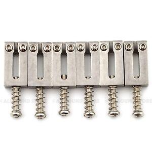 STAINLESS STEEL Bridge Saddles for Fender® Stratocaster, Telecaster Strat Tele