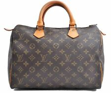Authentic Louis Vuitton Monogram Speedy 30 Hand Bag Old Model LV A2489