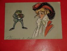 ZN683 Vntage 1907 Early Private Mailing Postcard Frog with Camera Undivided Back