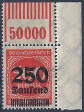 MiNr. 296 OPD Hannover vom Walzenoberrand von 1'11'1 aus Ecke 2 geprüft WEINBUCH