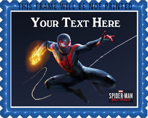 Marvel's Spider Man Miles Morales - Edible Cake Topper or Cupcake Topper