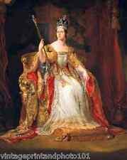 Coronation Portrait Queen Victoria by G Hayter 8x10 Art Print Royal Crown 110