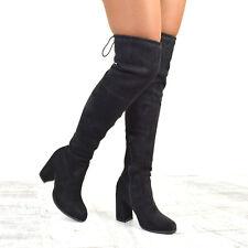 450291c5d76b9 Botas por encima de la rodilla de mujer negro