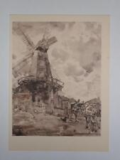 Print Delce Mill Rochester Kent by Thomas Hennell RWS 1947