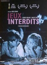 JEUX INTERDITS / FORBIDDEN GAMES - WAR - REISSUE SMALL FRENCH MOVIE POSTER
