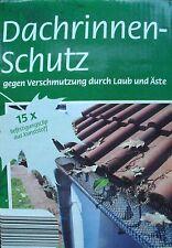 Dachrinnenschutz ca.6m Länge mit ca.15 Befestigungsclips OVP