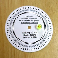 Turntable Bubble spirit level Head Shell Azimuth Gauge +PROTRACTOR+Strobe Disc