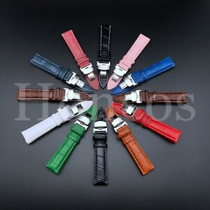 18,19,20,21,22,24MM LEATHER BAND STRAP CLASP FOR OMEGA SEAMASTER PLANET WATCH US