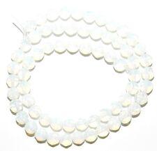 "GR116 Opalite Sea Opal Quartz 6mm Faceted Round Gemstone Glass Beads 14"""
