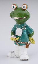 Large Dentist Frog KEREN KOPAL LIMITED EDITION Trinket box Swarovski Crystals