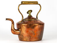 c1900 Large Copper & Brass Kettle with Baden Powell Finial