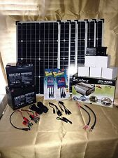 240W 6 PANEL COMPLETE SOLAR KIT, 1000W POWER INVERTER, CONTROLLER, 12V BATTERIES