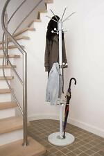 Clothes Umbrella/ Bag/ White Hat and Coat Stand Rack Hanger with Marble Base