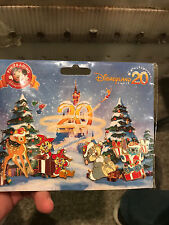 Disney Pin Disneyland Paris 20th Anniversary Christmas Booster 4 Pins Set