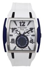 Mulco Deep Square MW1-13186-014 New 2012 Collection White Silicone Band Watch