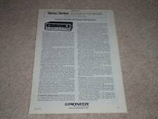 New listing Pioneer Sx-626 Receiver Ad, Review,1 page,1973,Rare!